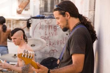 DeLa at Escape rehearsal at the Casa de Cultura.