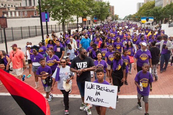 Residents of the South Ward come down Broad Street with over 1500 people in their contingent.