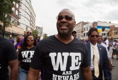 Mayor Baraka marches with the South Ward.