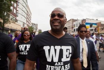 Mayor Baraka marches with the South Ward.
