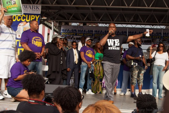 Mayor Baraka addresses the city of Newark.