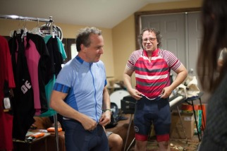 Dave Dreiwitz and Ray Kubian getting into their exercise gear!